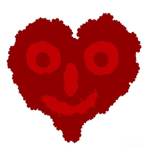 Apparition Digital Art - Vector Heart Looks Like Boogerman by Michal Boubin