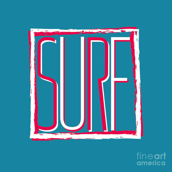Emblem Wall Art - Digital Art - Vector Illustration Californian Surf by Artem Kovalenco