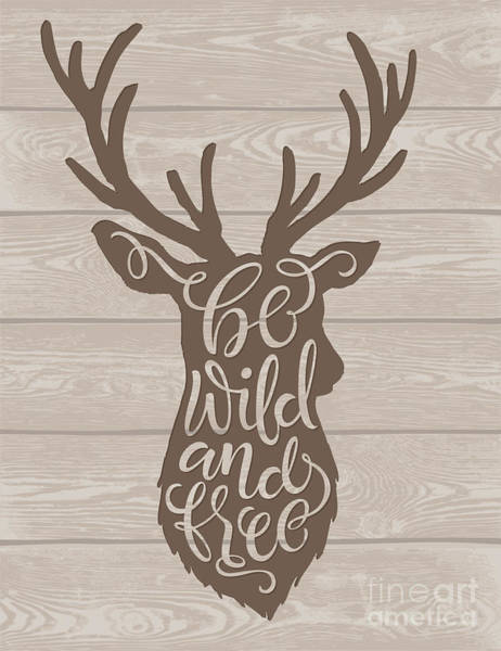 Wall Art - Digital Art - Vector Illustration Of Deer Silhouette by Bariskina