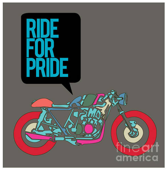 Wall Art - Digital Art - Vector Motorbike Illustration Ride For by Singpentinkhappy