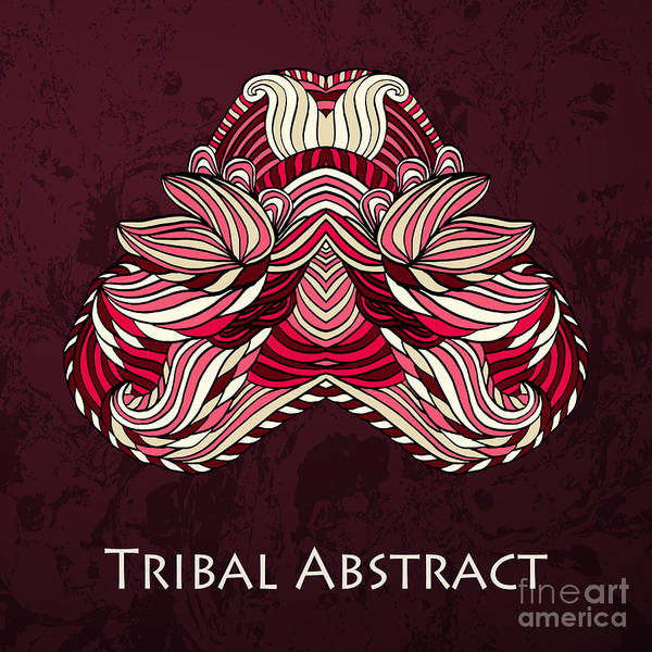 Vector Tribal Abstract Element For Art Print
