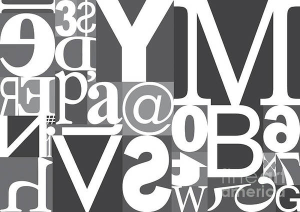 Front Digital Art - Vector Typography Blocks by Rob Pitman