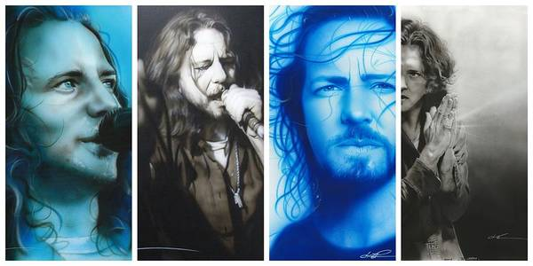 Eddie Vedder Painting - Vedder Mosaic I by Christian Chapman Art
