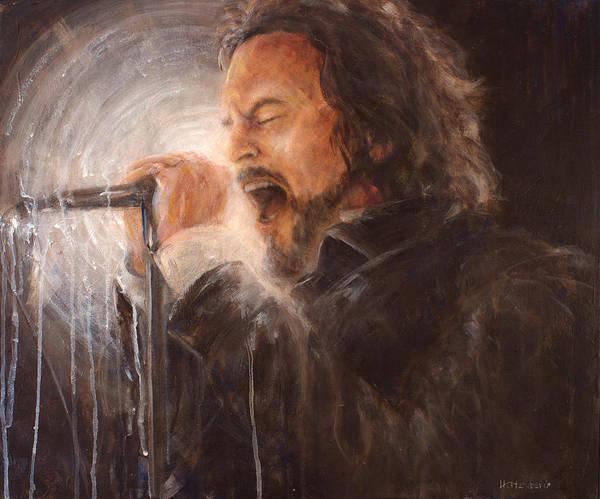 Pearl Jam Painting - Vedder Spot by Josh Hertzenberg