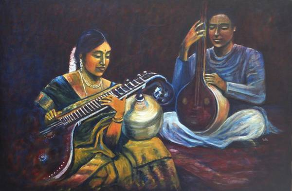 Veena Tamboora Art Print