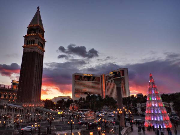 Photograph - Vegas Christmas Sunset 001 by Lance Vaughn