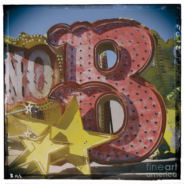 Photograph - Vegas Red Letter B by Kate McKenna