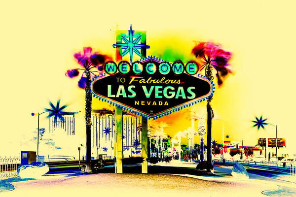 Iconic Digital Art - Vegas Weekends by Az Jackson