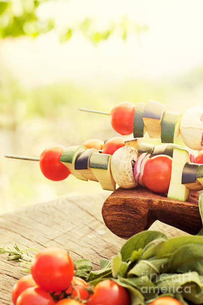 Barbeque Photograph - Vegetable Kebab by Mythja  Photography
