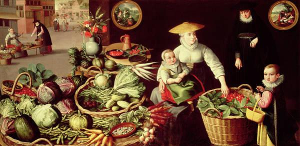 Lucas Photograph - Vegetable Market by Lucas van Valckenborch