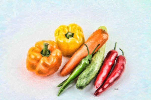 Painting - Vegetables 1557 by Dean Wittle