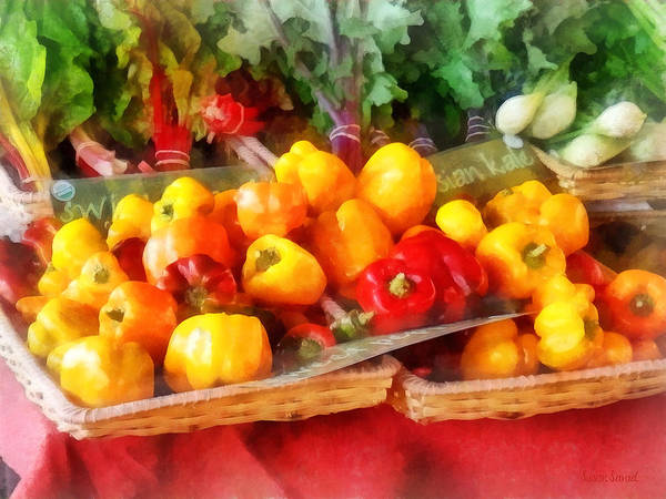 Photograph - Vegetables - Peppers At Farmers Market by Susan Savad