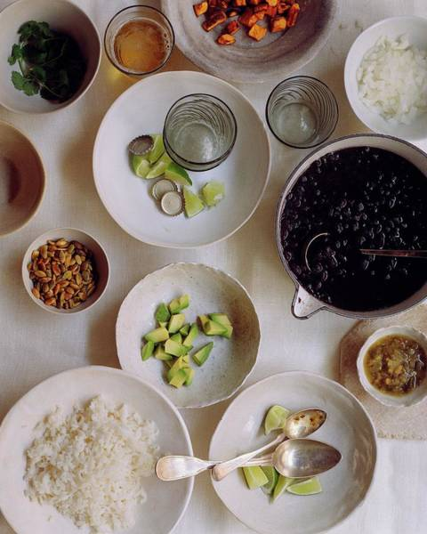 2007 Photograph - Vegetarian Dishes by Romulo Yanes