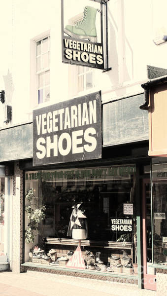 Shopping Photograph - Vegetarian Shoes by Jasna Buncic