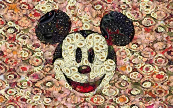 Digital Art - Veggie Mickey Mouse by Paulette B Wright
