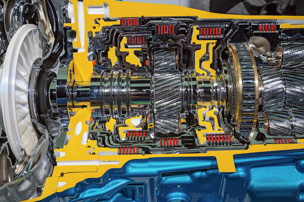 Detroit Auto Show Photograph - Vehicle Automatic Transmission by Jim West/science Photo Library