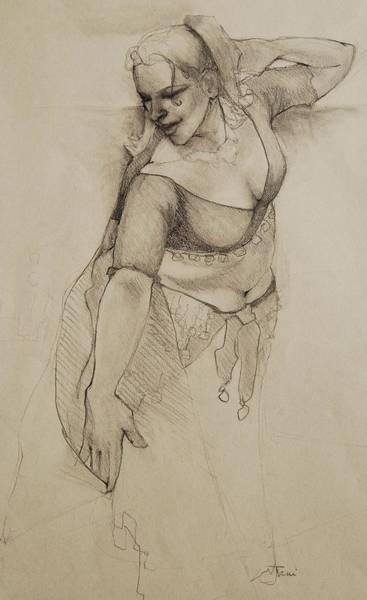Drawing - Veil Dance by Jani Freimann