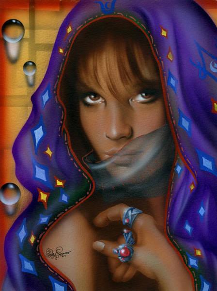 Seer Wall Art - Painting - Veil Mystery 6 by Luis  Navarro