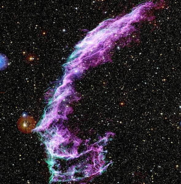Canada-france-hawaii Telescope Wall Art - Photograph - Veil Nebula Supernova Remnant by Canada-france-hawaii Telescope/jean-charles Cuillandre/science Photo Library