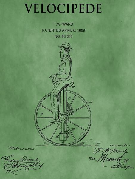Mixed Media - Velocipede Patent Green by Dan Sproul