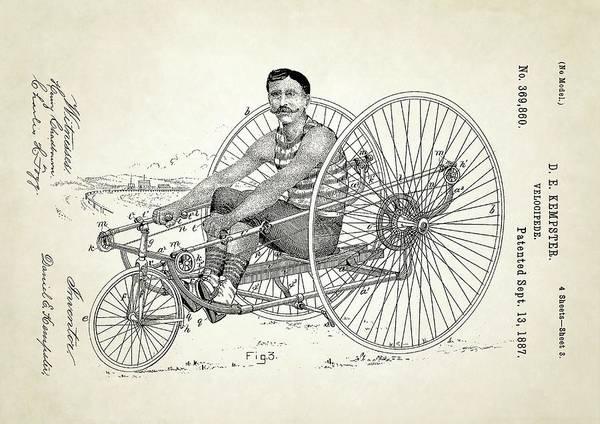 Velocipede Patent Art Print