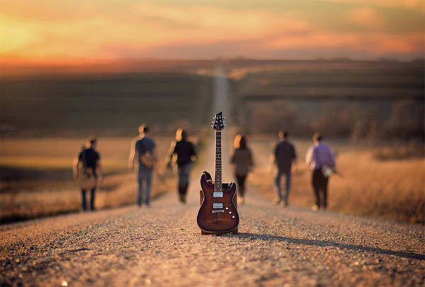 Electric Guitar Wall Art - Photograph - Velvet Crush by Jake Olson