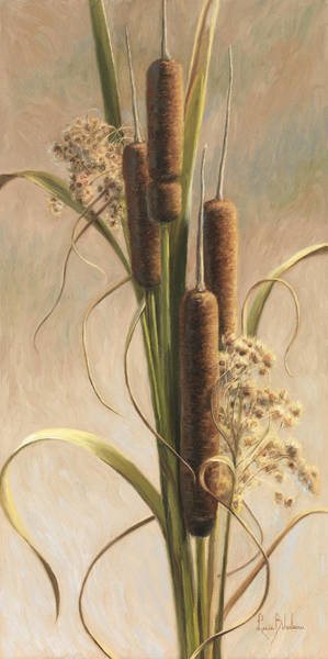 Painting - Velvety Cattails by Lucie Bilodeau