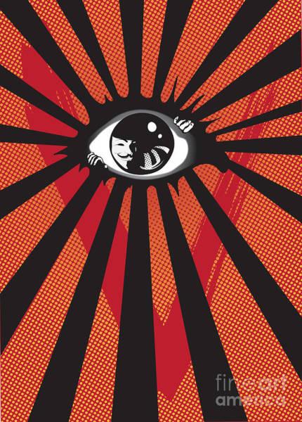 Digital Art - Vendetta2 Eyeball by Sassan Filsoof
