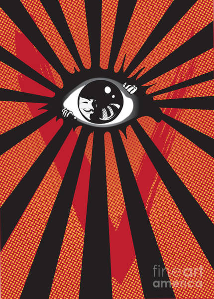 Thought Digital Art - Vendetta2 Eyeball by Sassan Filsoof