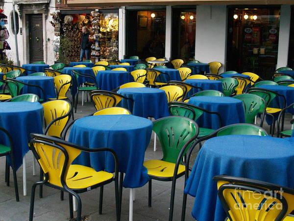 Photograph - Venetian Cafe by Robin Maria Pedrero
