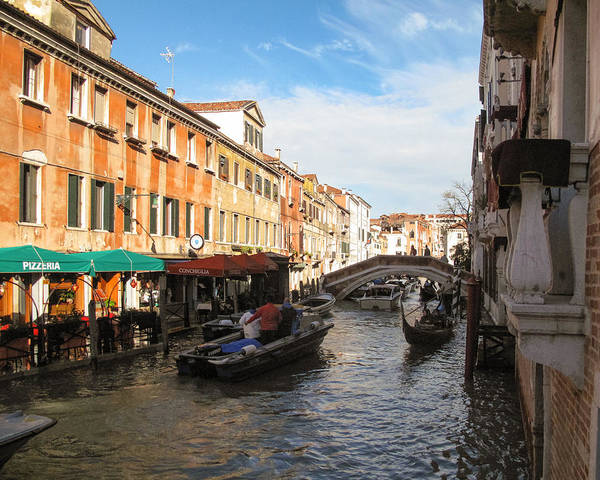 Photograph - Venetian Canal by Joe Winkler