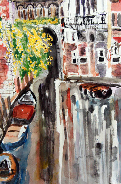 Painting - Venetian Canal Reflection by Michael Helfen