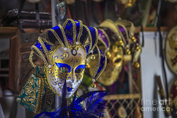 Photograph - Venetian Carnival Masks Cadiz Spain by Pablo Avanzini