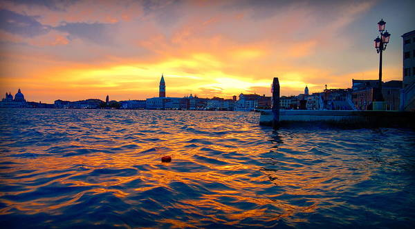 Tramonto Photograph - Venetian Dusk by Valentino Visentini