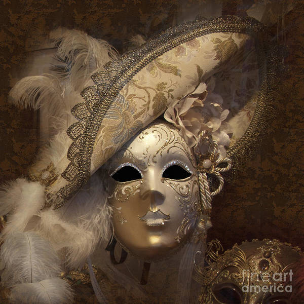 Venetian Face Mask F Art Print