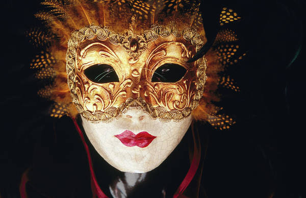 Photograph - Venetian Papier Mache Mask by Mark Daffey