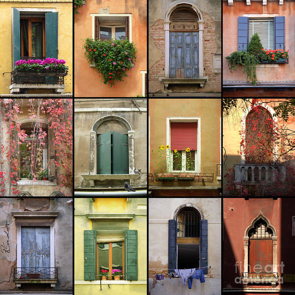 Photograph - Venetian Shutters Collage by Robyn Saunders