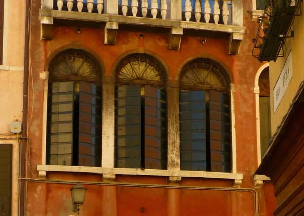 Burnt Sienna Wall Art - Photograph - Venetian Shutters by Connie Handscomb