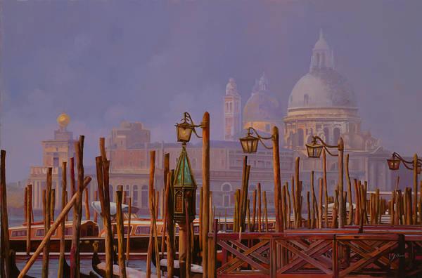 Canal Wall Art - Painting - Venezia E La Nebbia by Guido Borelli
