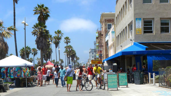 Neighborhood Photograph - Venice Beach Boardwalk by Nancy Merkle