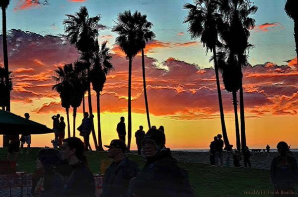 Digital Art - Venice Beach Scene by Visual Artist Frank Bonilla