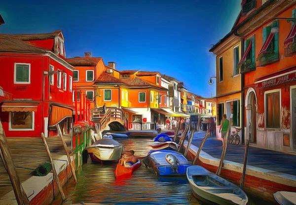 Daylight Digital Art - Venice Burano Beauty 1 by Yury Malkov