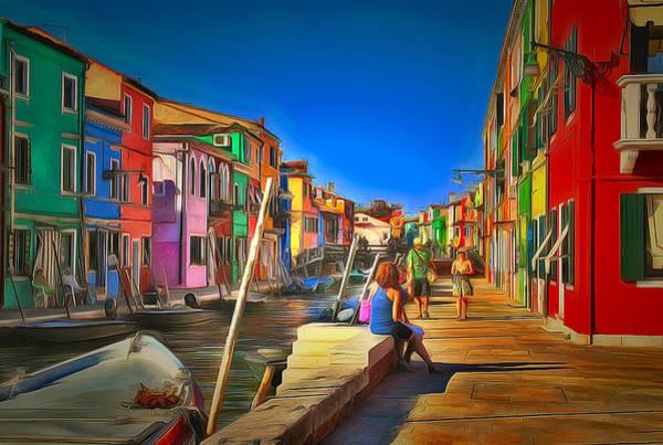 Daylight Digital Art - Venice Burano Beauty 2 by Yury Malkov