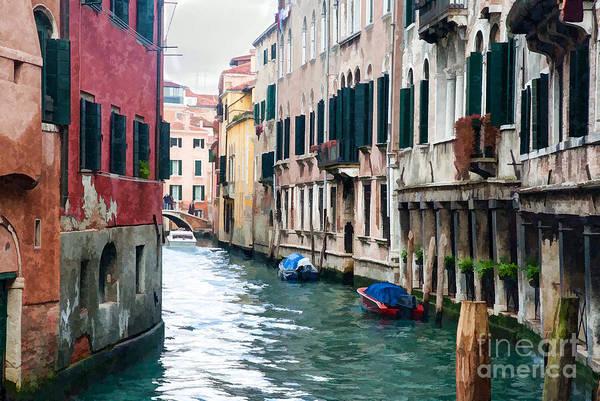 Digital Art - Venice Roadway Painted by Paul Quinn