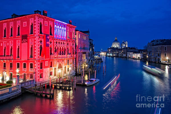 Wall Art - Photograph - Venice By Night by Delphimages Photo Creations
