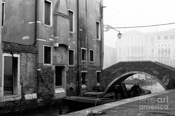 Wall Art - Photograph - Venice Canal Bridge Morning by John Rizzuto