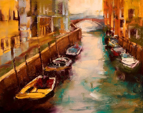 Pastel - Venice Canal by David Patterson