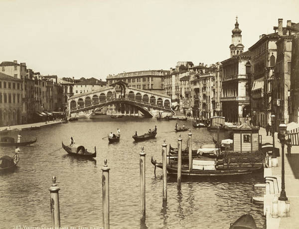 1885 Wall Art - Photograph - Venice Canal Grande by Underwood Archives