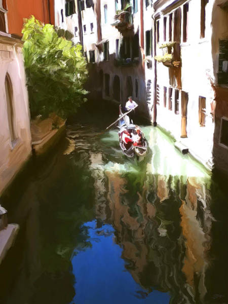 Boat Ride Wall Art - Painting - Venice Canal by Paul Tagliamonte