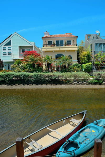 Photograph - Venice Canals Walkway  by Songquan Deng